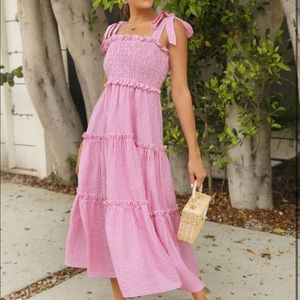 SHEIN Gingham Plaid Dress new